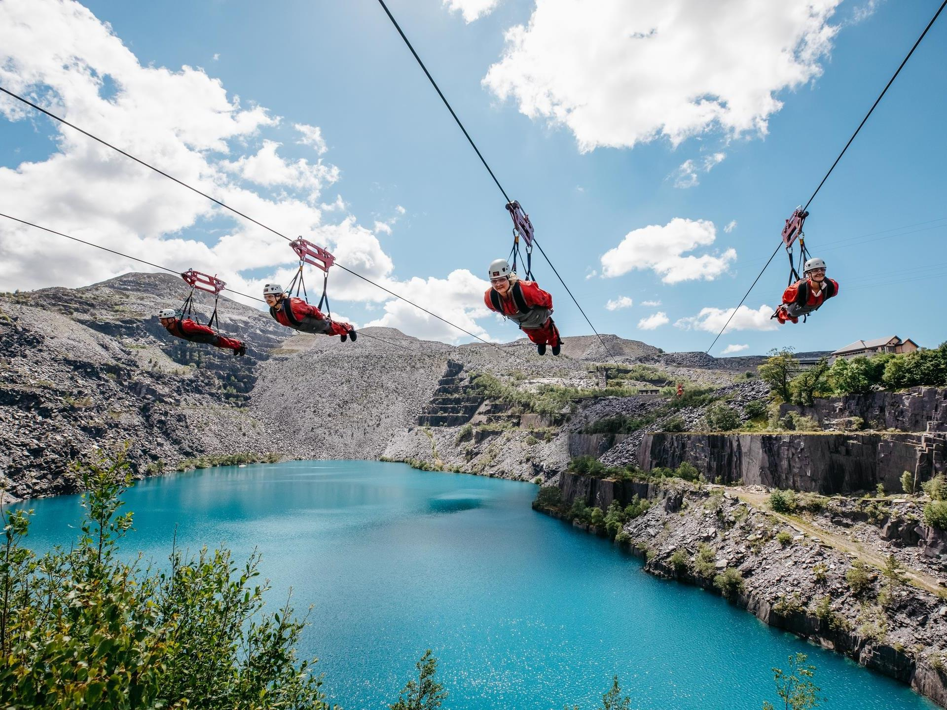 Velocity 2, the world's fastest zip line