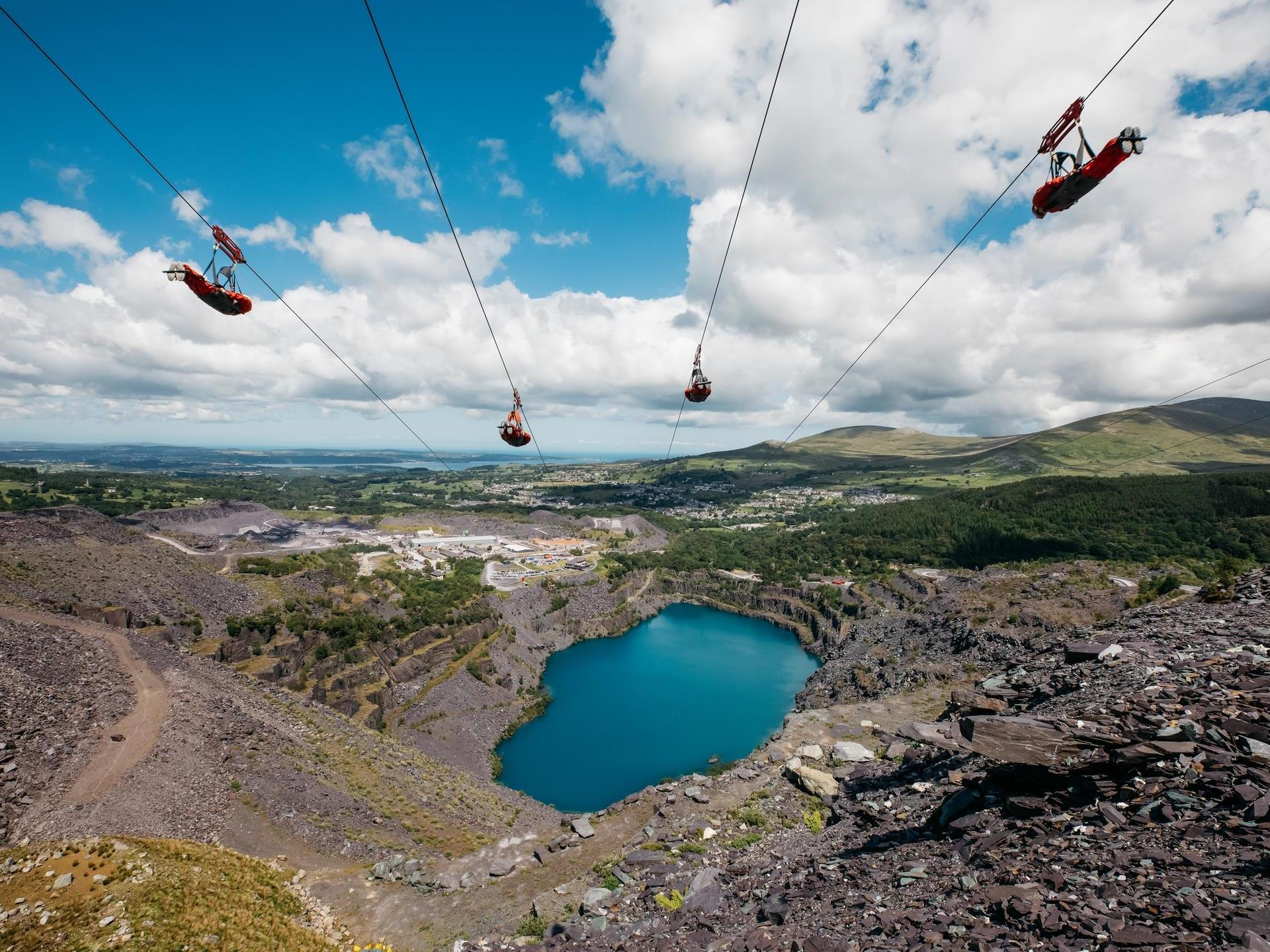Penrhyn Quarry, home to Velocity 2