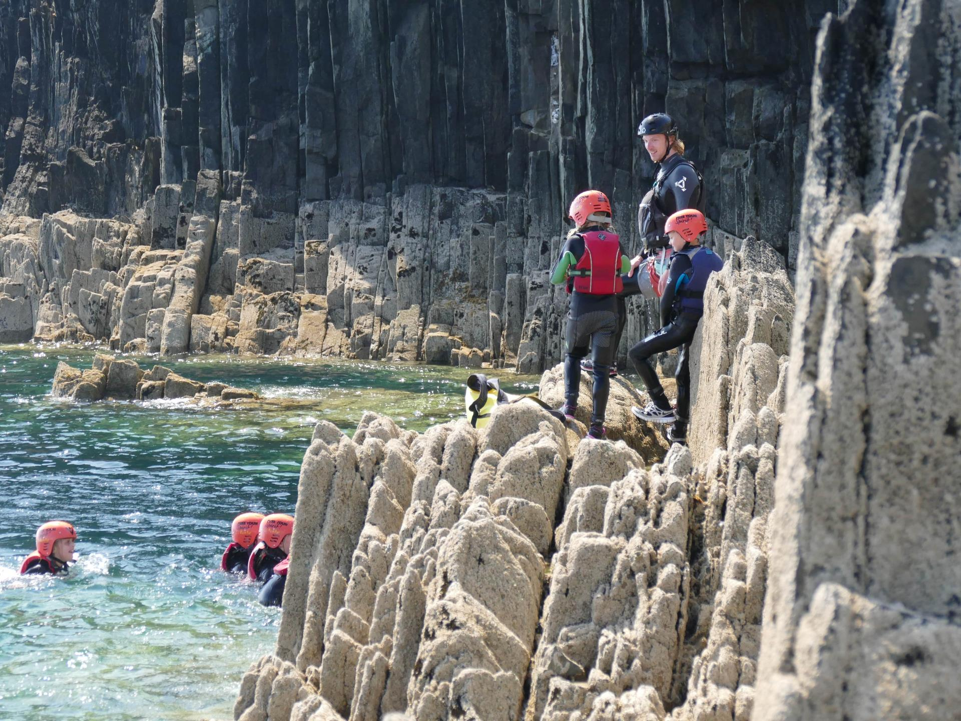 Family Coasteering Pembrokeshire