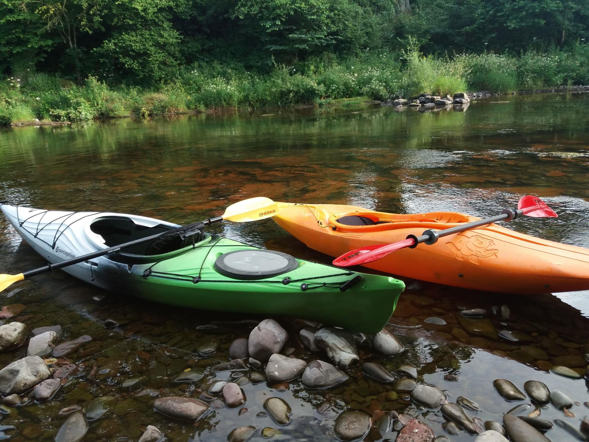 Kayaking on the Wye