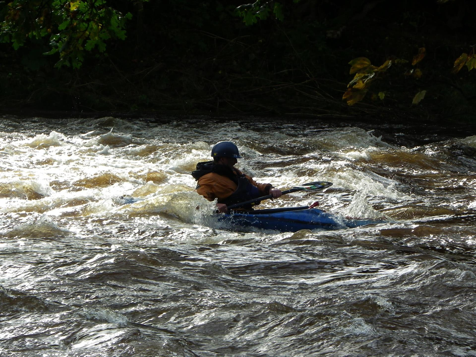 Kayaking on the Usk