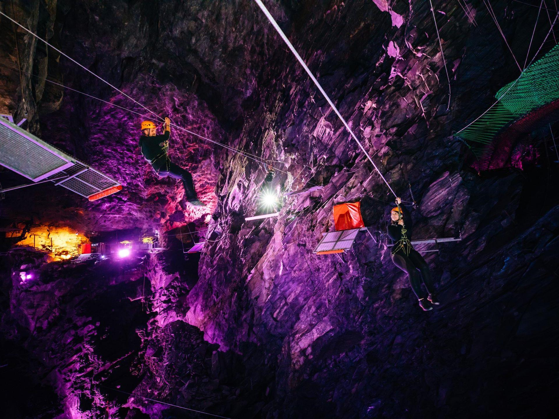 Take on the challenge of Zip World Caverns