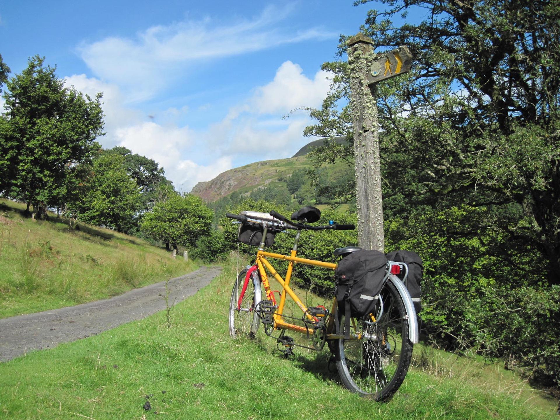 Tandem cycling holiday in Wales