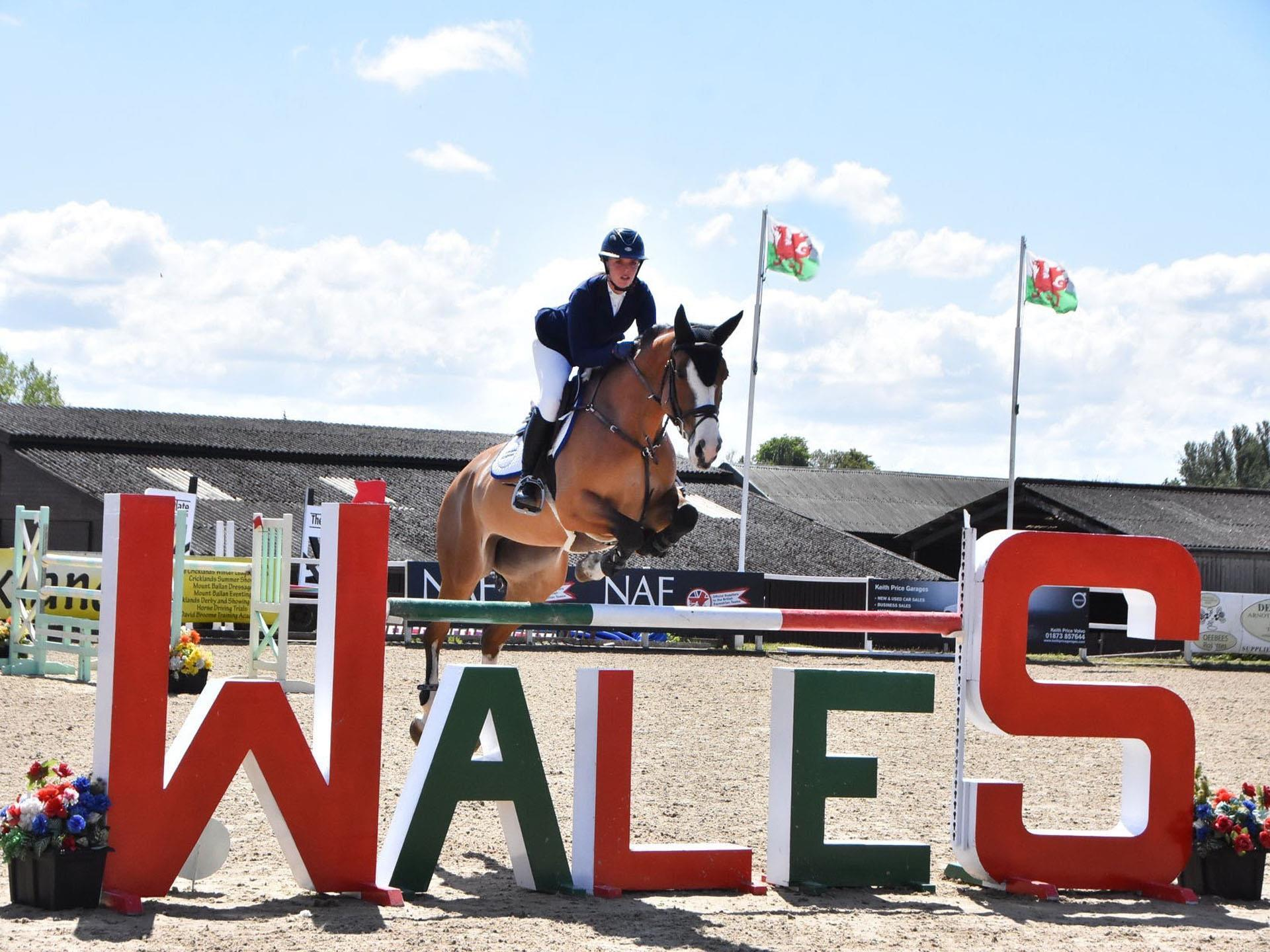 International Rider competing in Wales