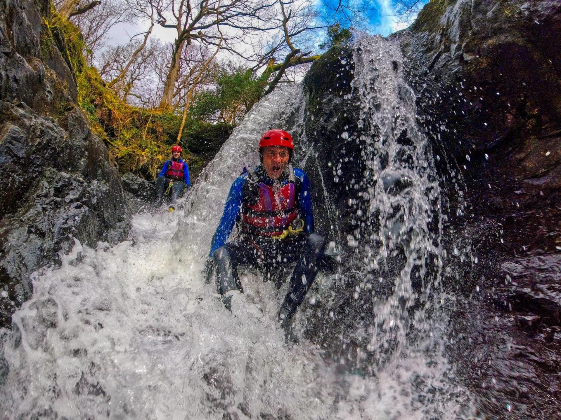 Scrambling through the Prysor gorge
