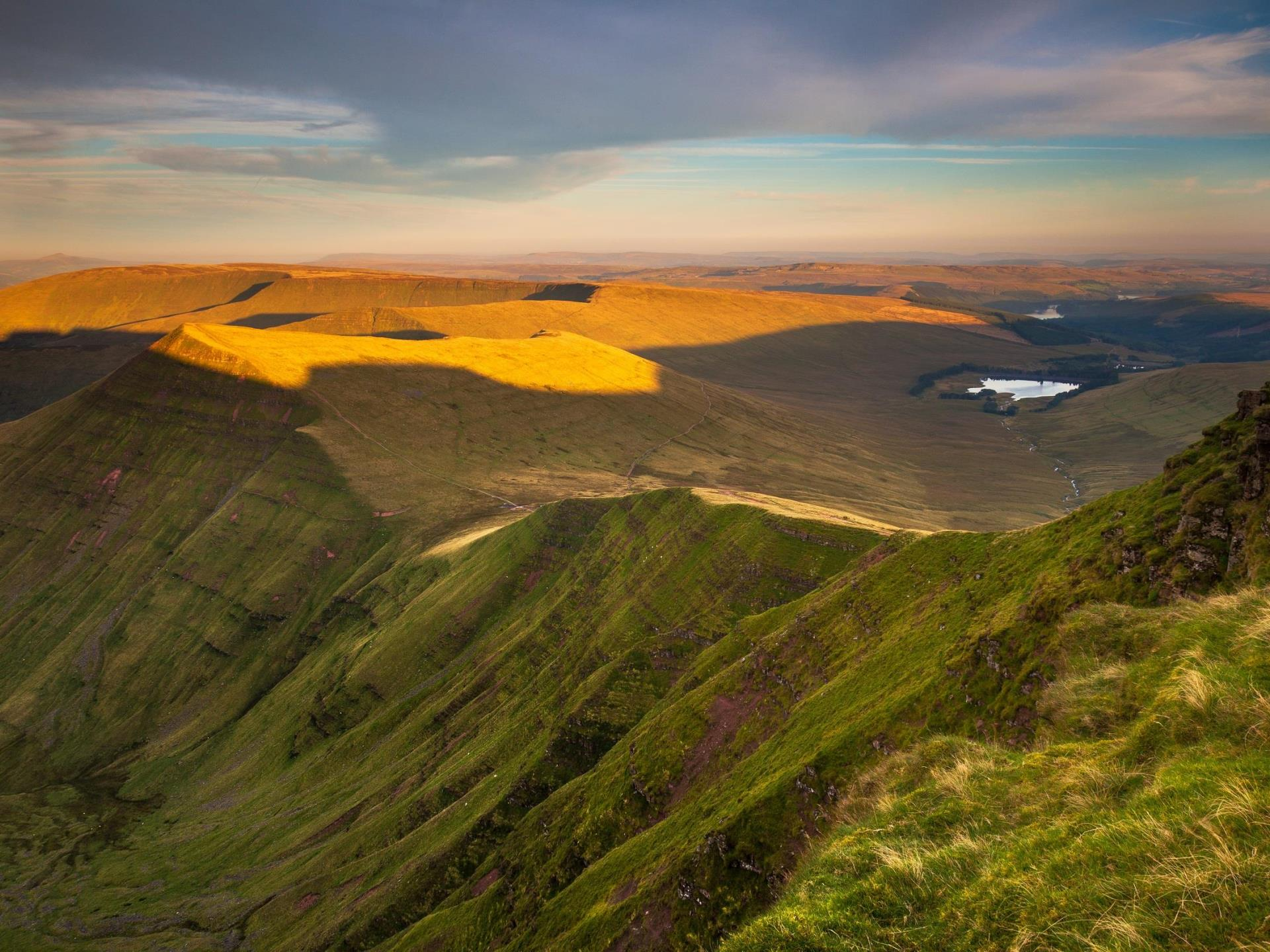 The Brecon Beacons mountain range