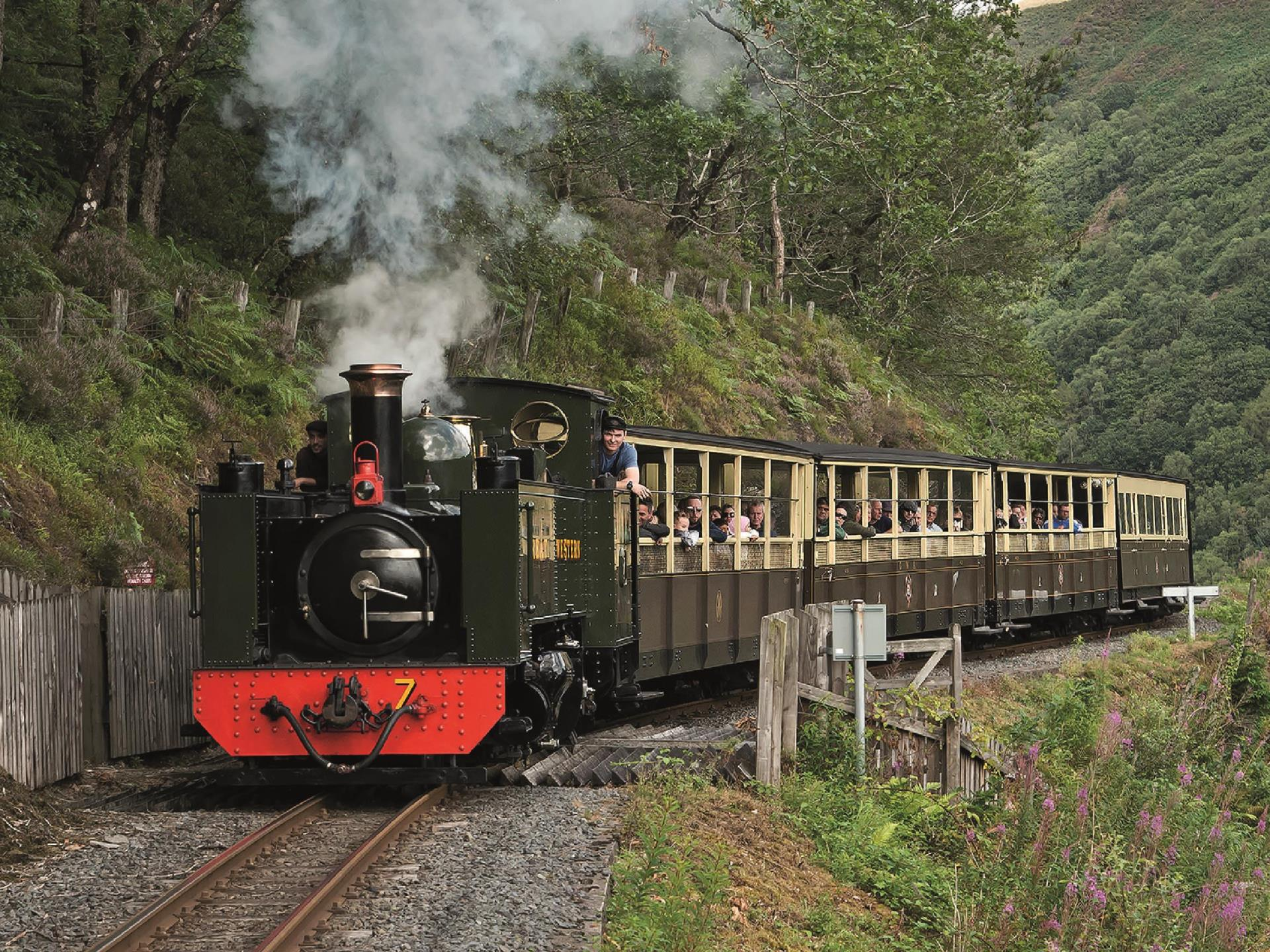 Vale of Rheidol Railway clings to the mountainside