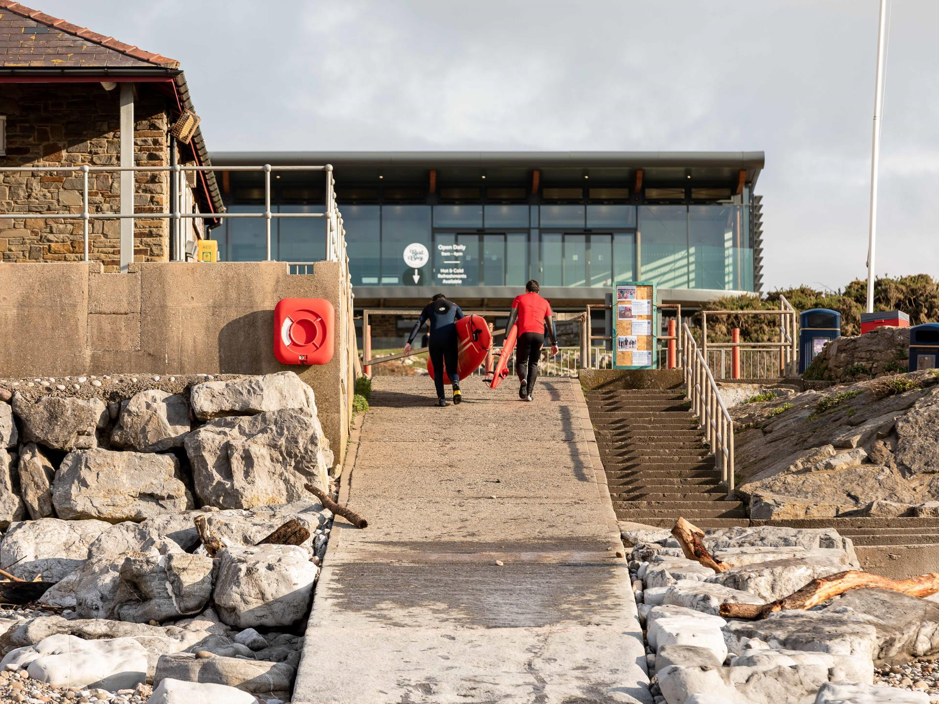 Lifeguard Station at Rest Bay, Porthcawl