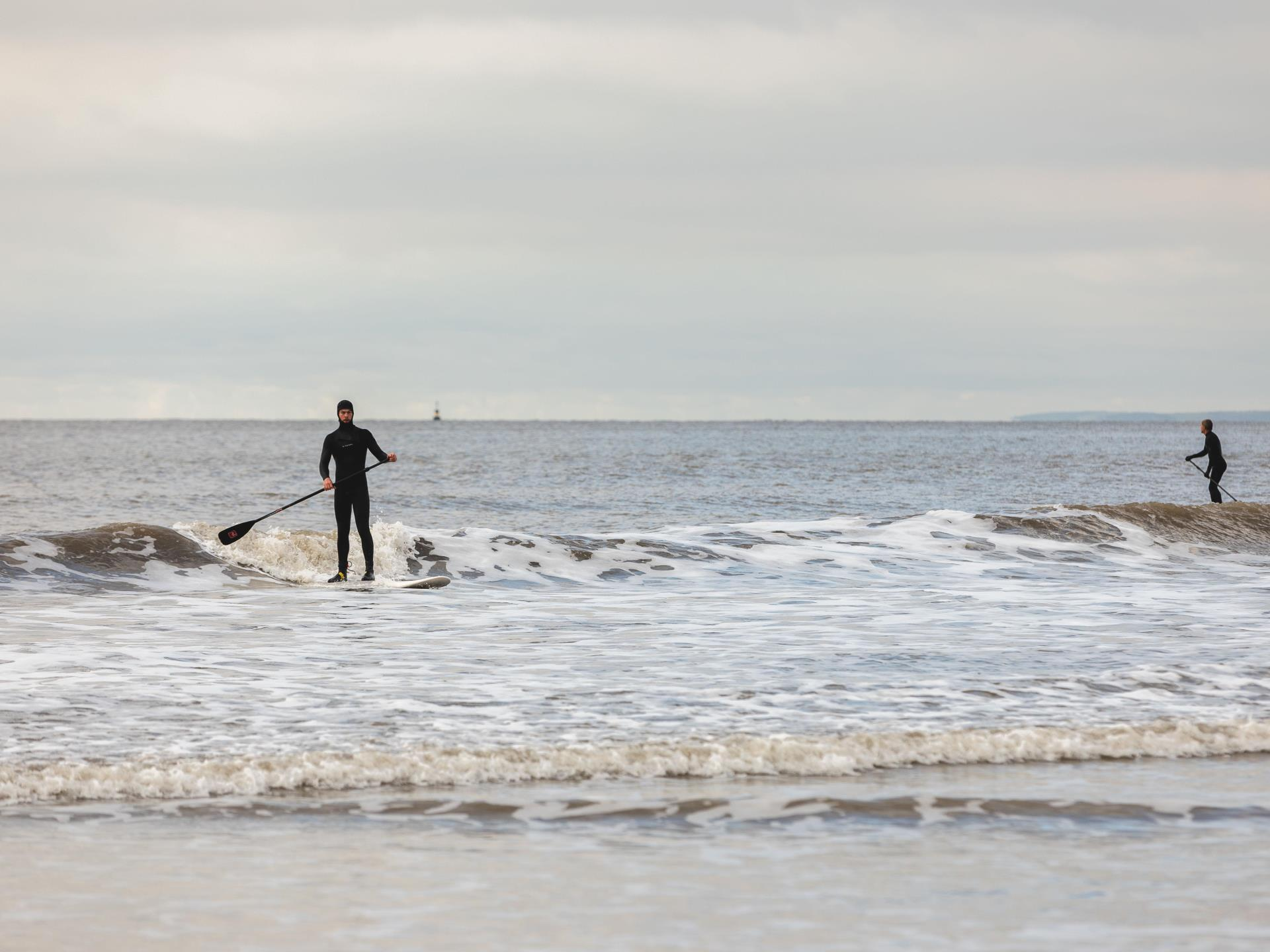 Paddle Boarding at Rest Bay, Porthcawl