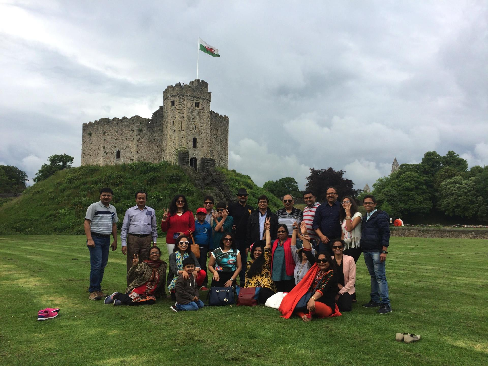 Group at Cardiff Castle