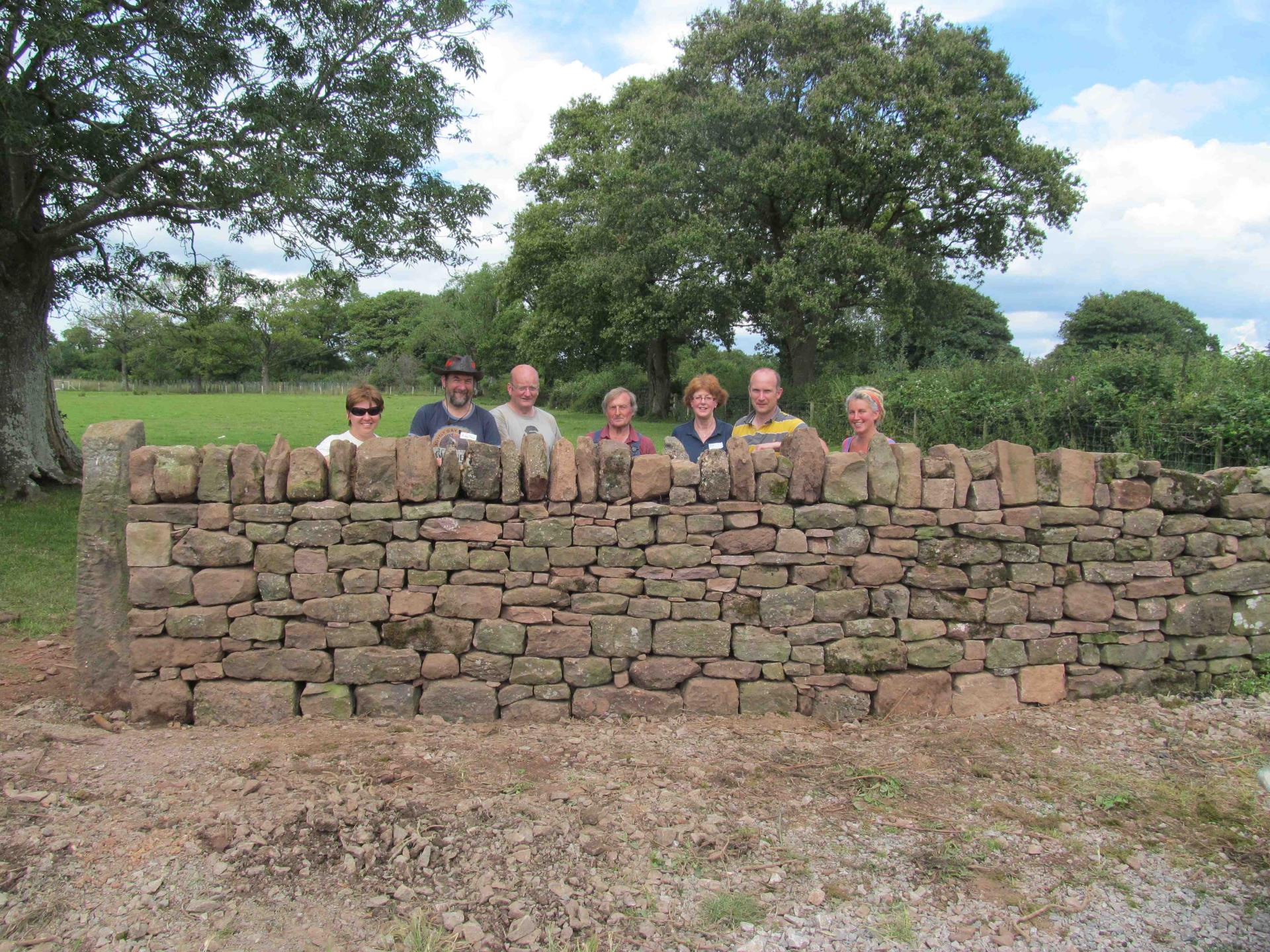 Dry stone walling at Humble by Nature