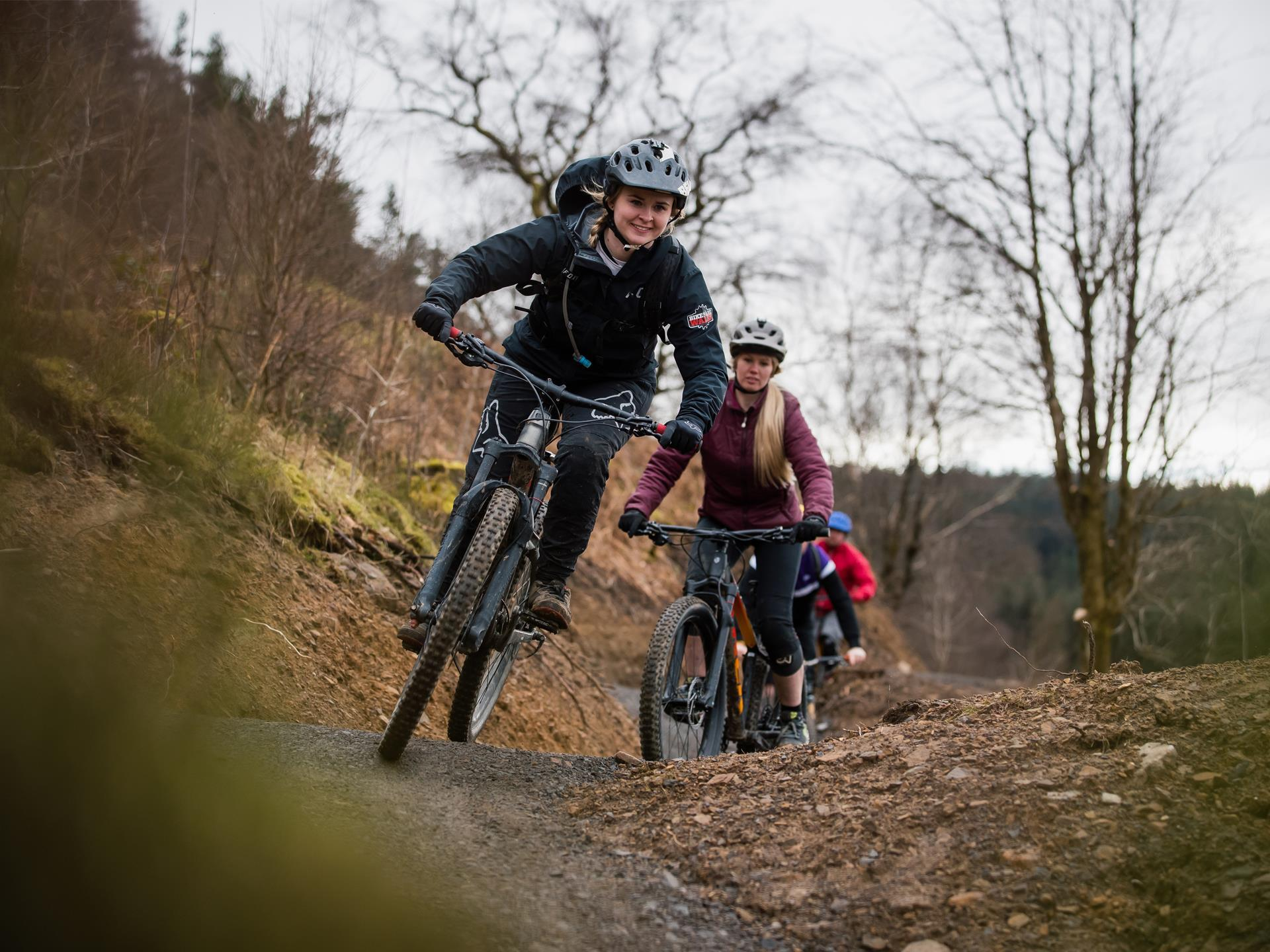 Guided mountain bike activity