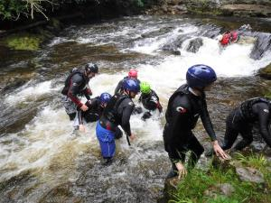 Gorge Activity. Waterfall Country. Brecon Beacons