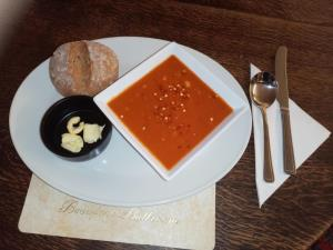 Home made soup with our own bread