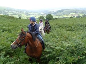 Trail riding with Ellesmere Riding Centre