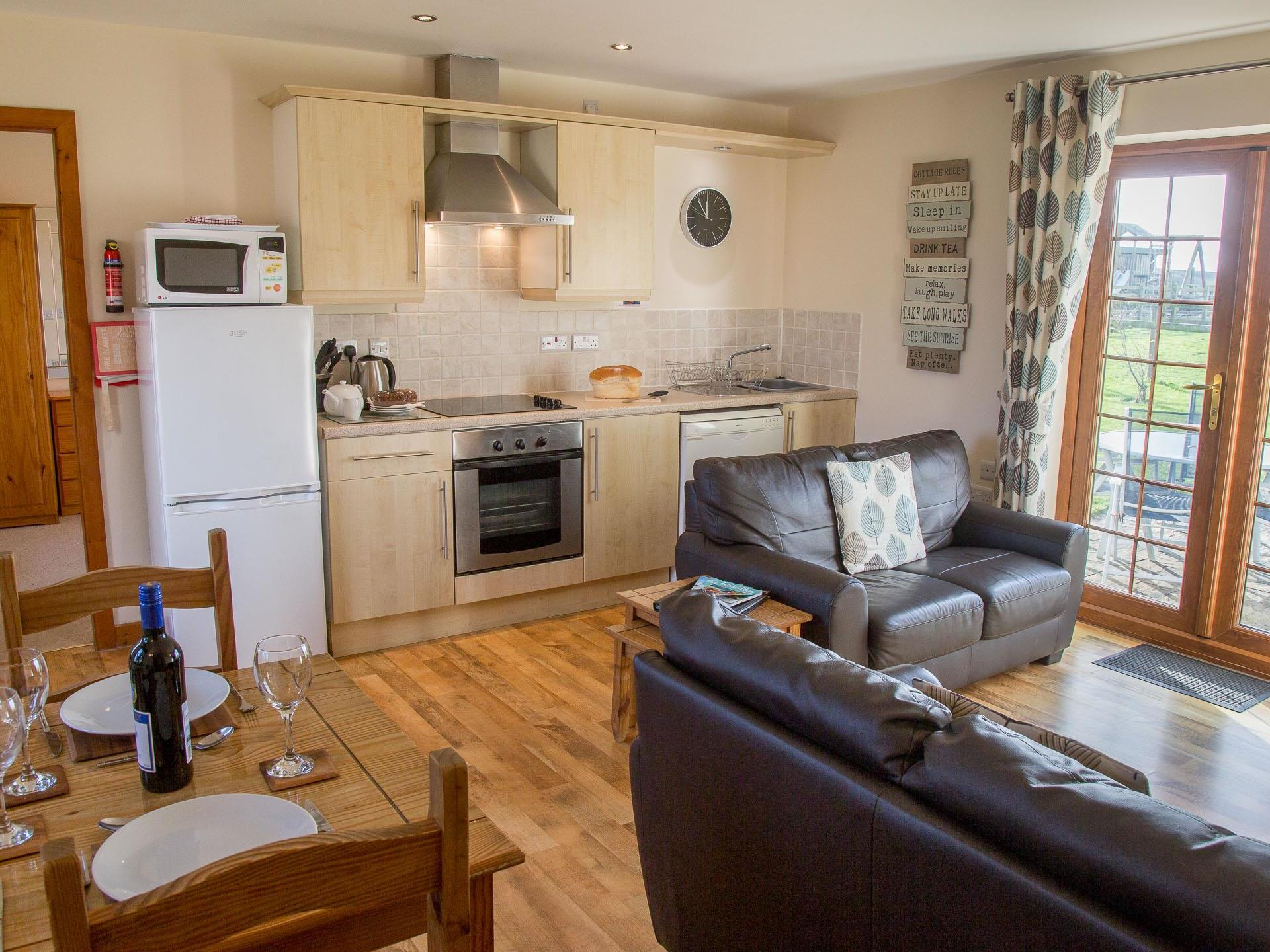 Open Plan Living at Cerrig y Barcud Cottages