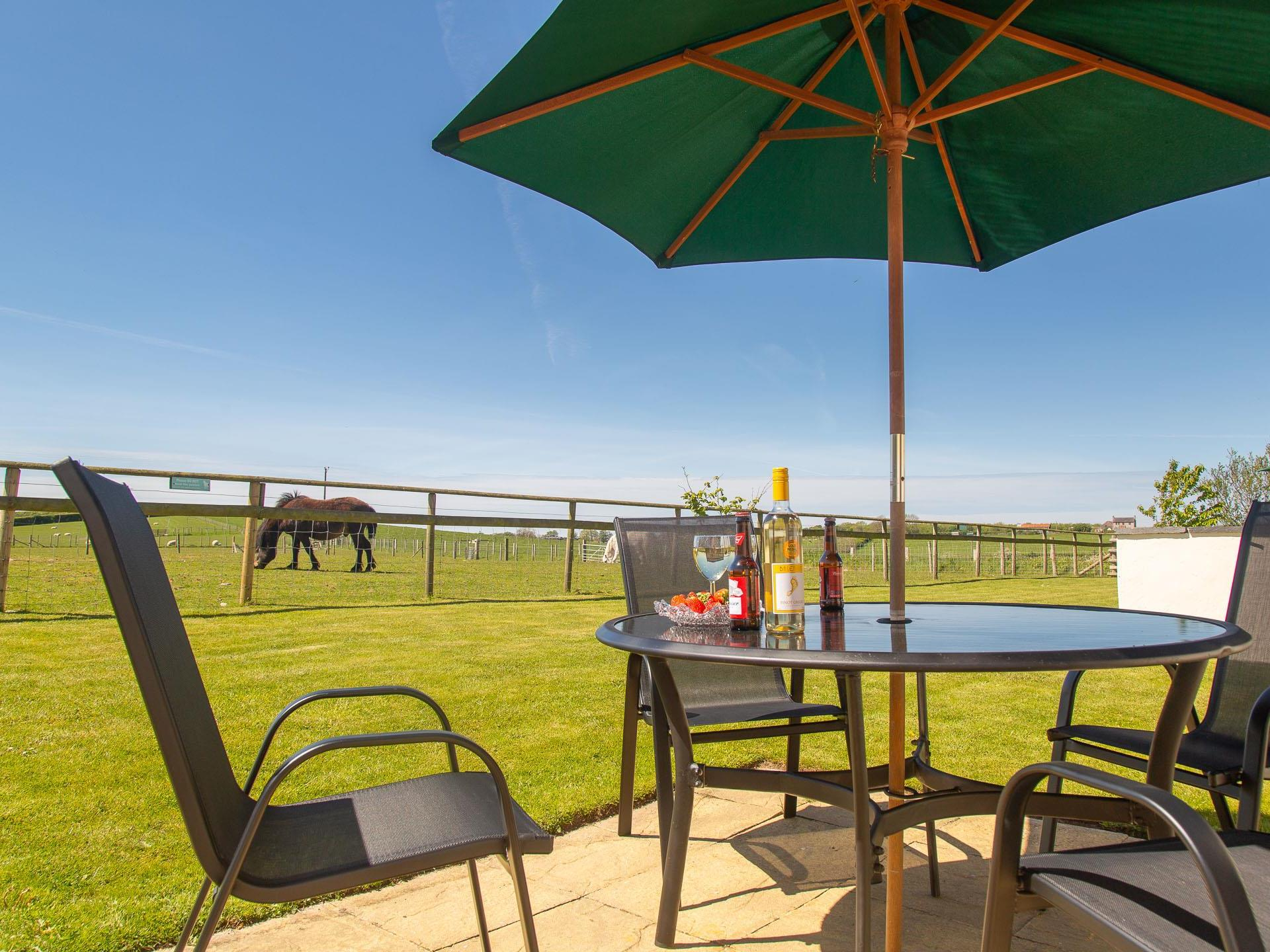 Enjoy the Anglesey sunshine on your patio