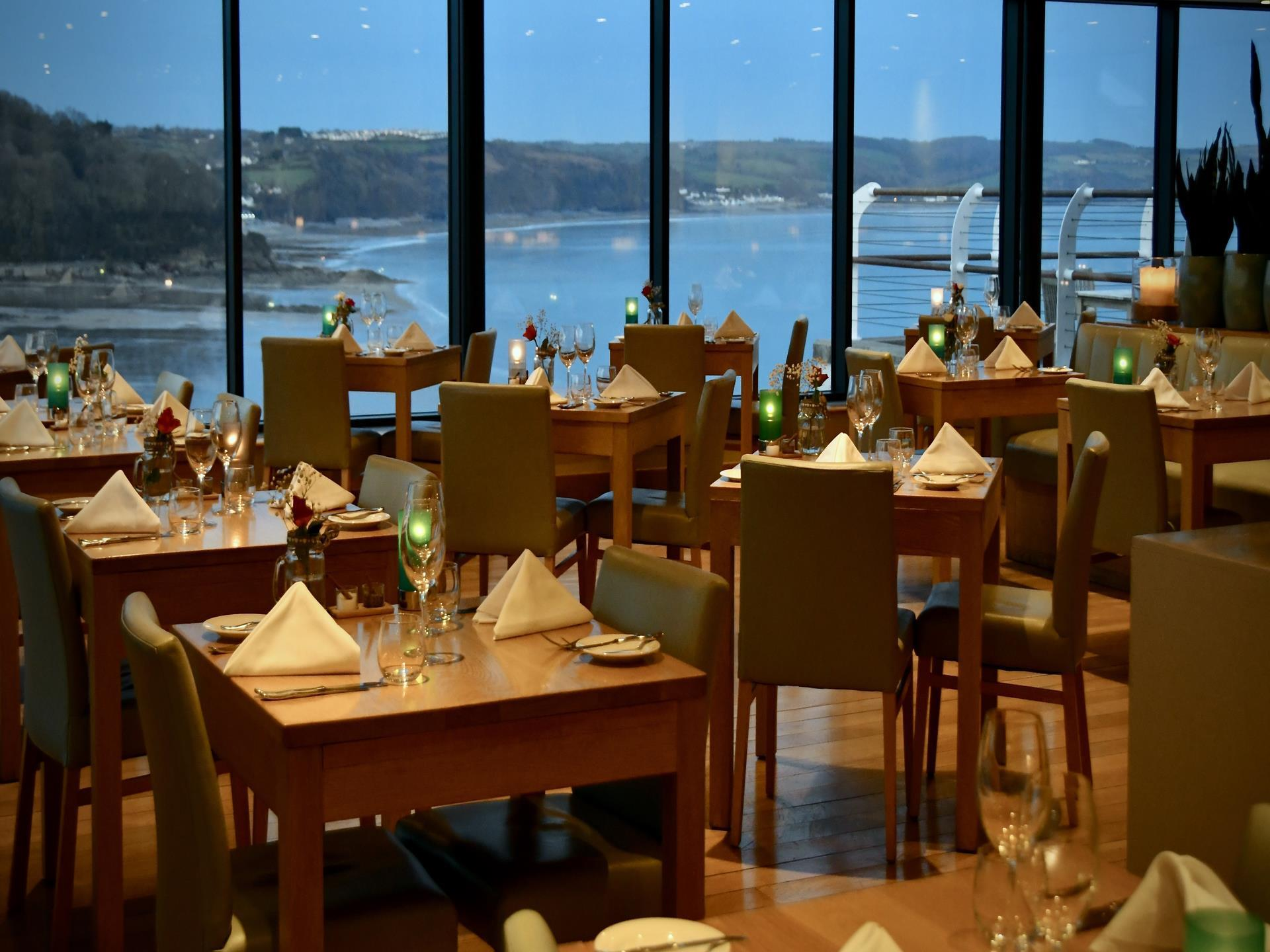Cliff Restaurant at St Brides Spa Hotel