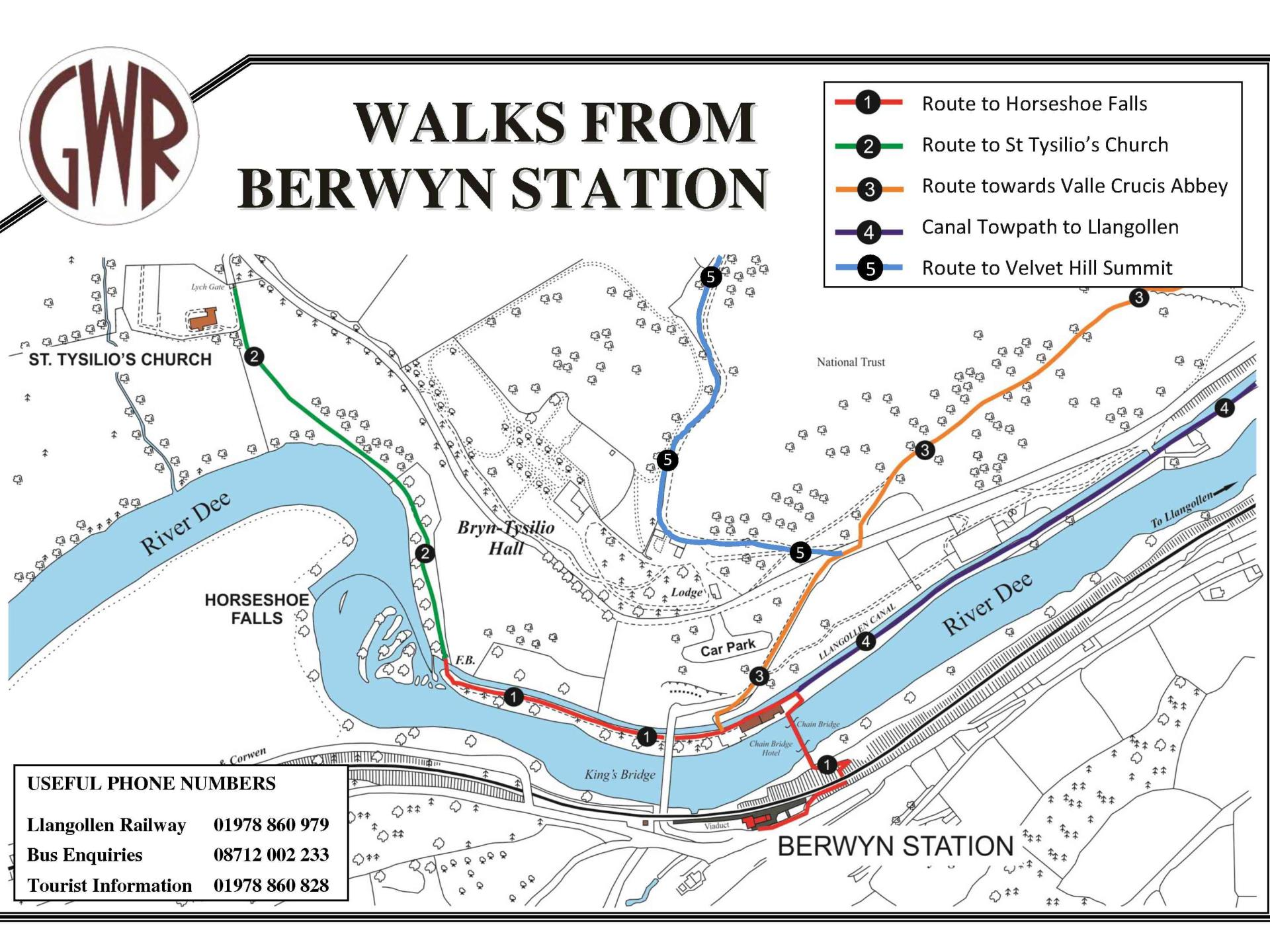 Walks From Berwyn Station