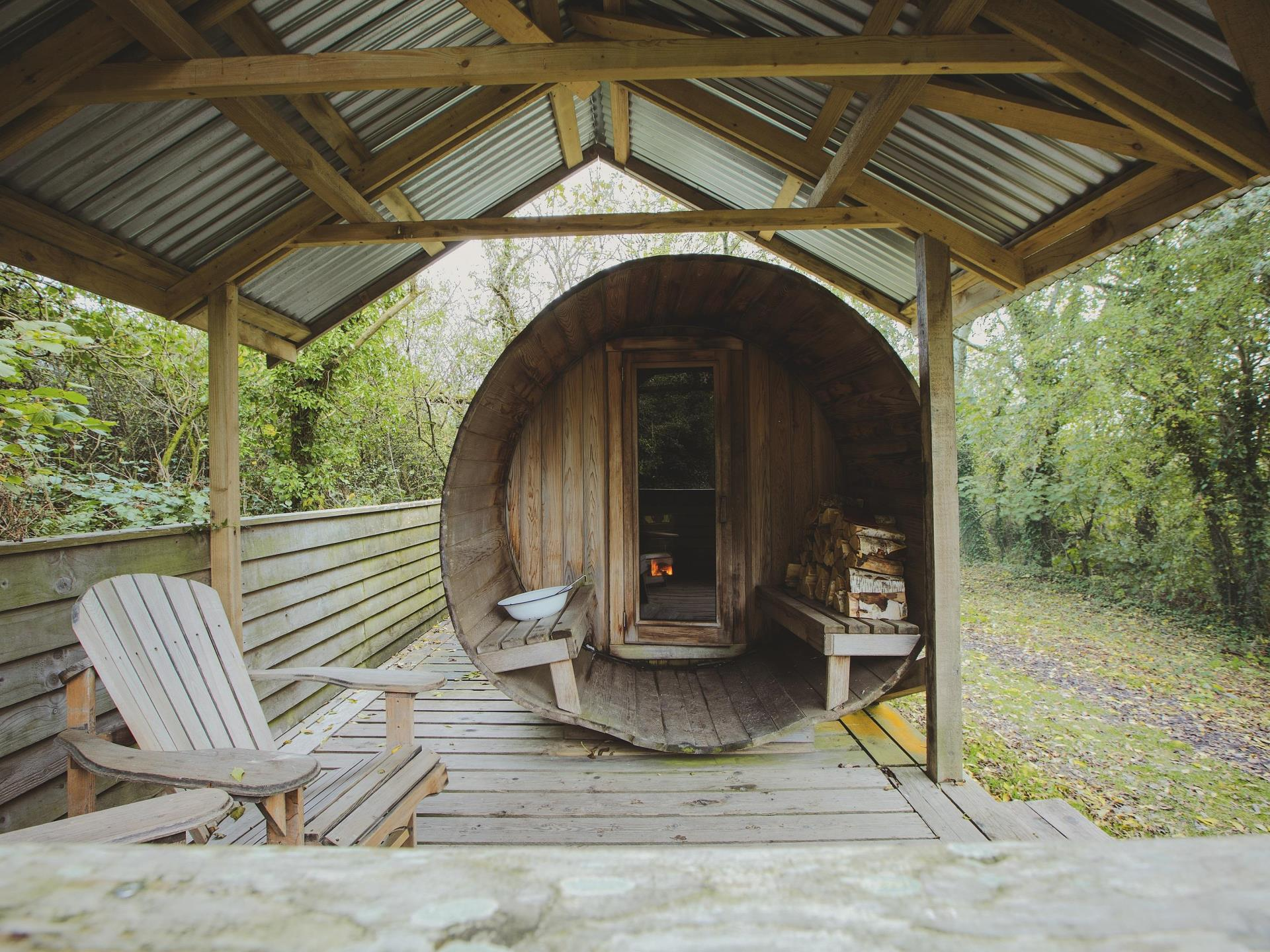 fforest farm cedar barrel sauna