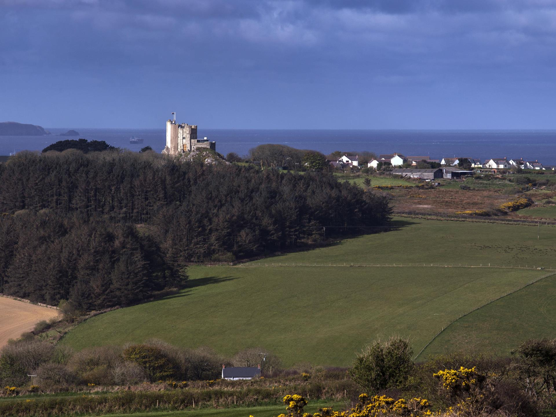 Roch Castle, View to St Brides Bay