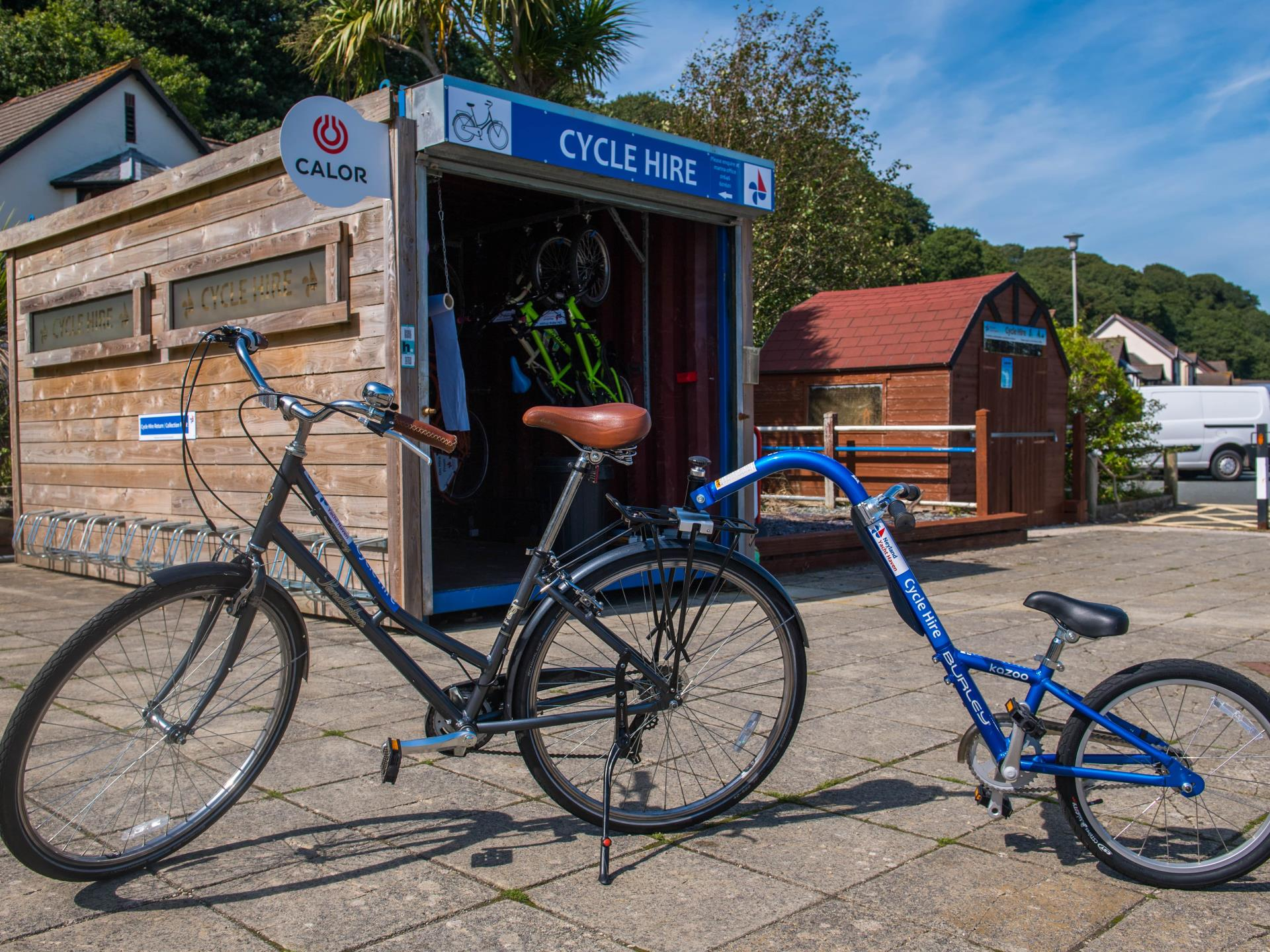 Bike hire available on-site